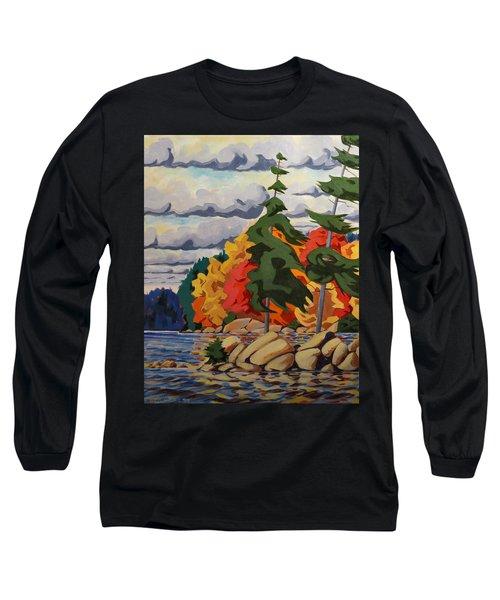Snake Island In Fall-close Long Sleeve T-Shirt