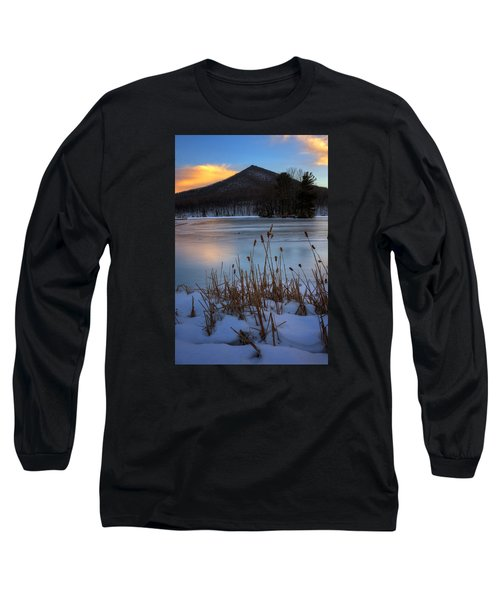 Snow At The Peaks Long Sleeve T-Shirt by Steve Hurt