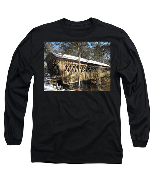 Snow Covered Bridge Long Sleeve T-Shirt