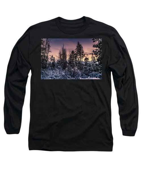 Snow Covered Pine Trees Long Sleeve T-Shirt