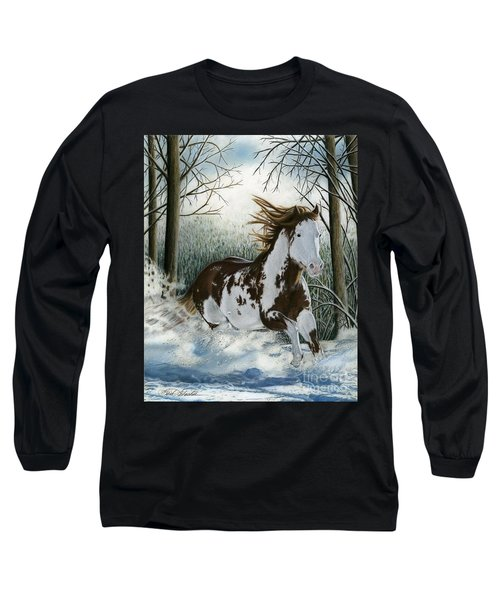 Snow Driftin', Pastel Long Sleeve T-Shirt