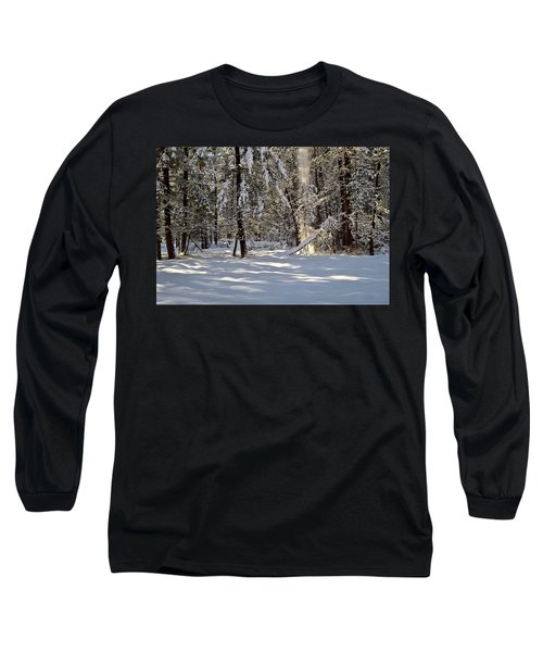 Snow Falling Off Cedars Long Sleeve T-Shirt