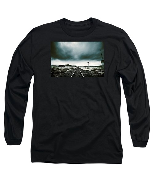 Long Sleeve T-Shirt featuring the photograph Snow Railway by Jorgo Photography - Wall Art Gallery