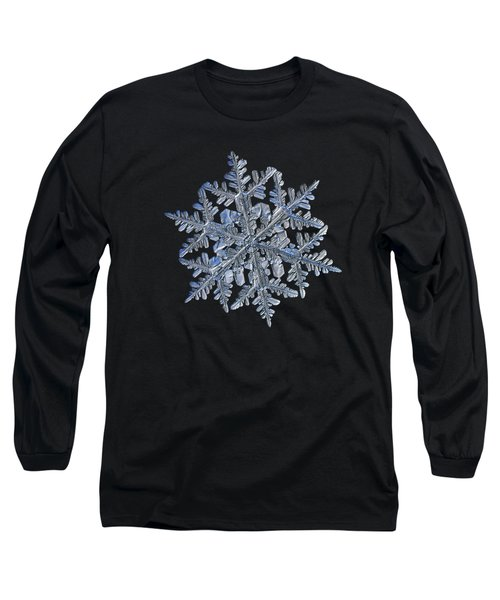 Snowflake Macro Photo - 13 February 2017 - 3 Black Long Sleeve T-Shirt