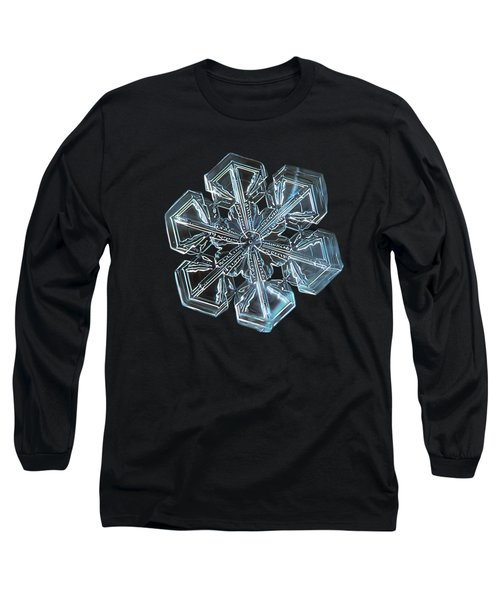 Long Sleeve T-Shirt featuring the photograph Snowflake Photo - Alcor by Alexey Kljatov