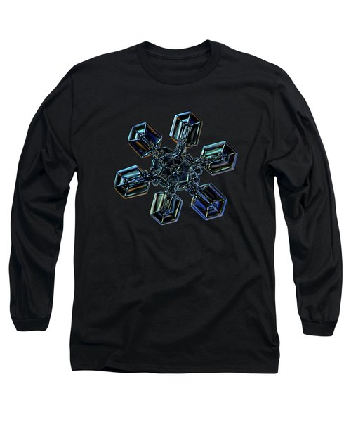Long Sleeve T-Shirt featuring the photograph Snowflake Photo - High Voltage IIi by Alexey Kljatov