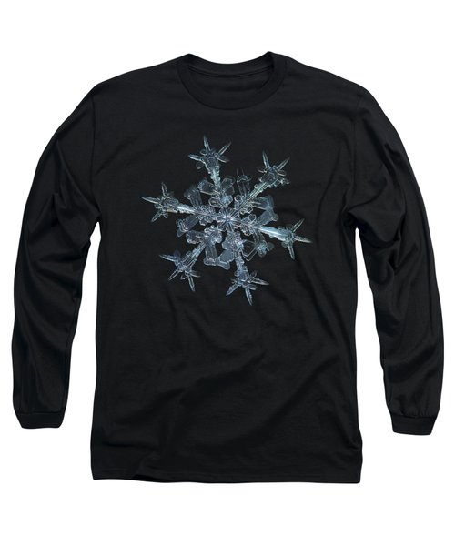 Long Sleeve T-Shirt featuring the photograph Snowflake Photo - Starlight by Alexey Kljatov