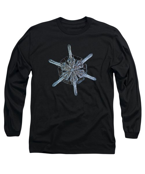 Snowflake Photo - Steering Wheel Long Sleeve T-Shirt by Alexey Kljatov