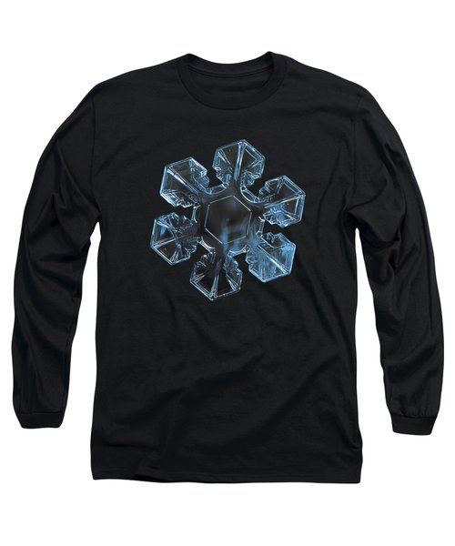 Long Sleeve T-Shirt featuring the photograph Snowflake Photo - The Core by Alexey Kljatov