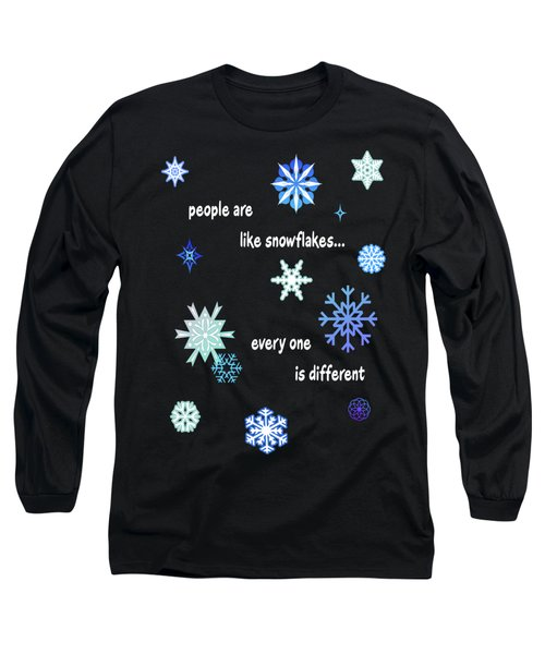 Snowflakes 4 Long Sleeve T-Shirt by Methune Hively