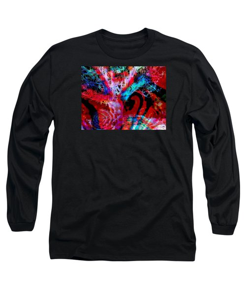 Long Sleeve T-Shirt featuring the digital art Snowing Baobab by Fania Simon