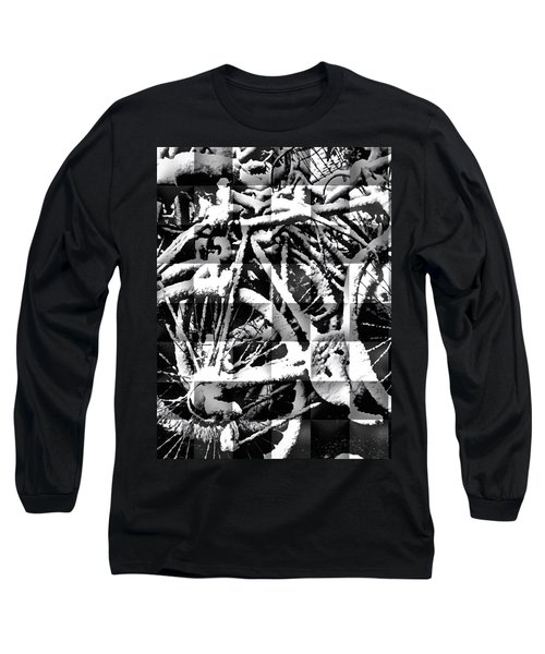 Snowy Bike Long Sleeve T-Shirt by Joan Reese