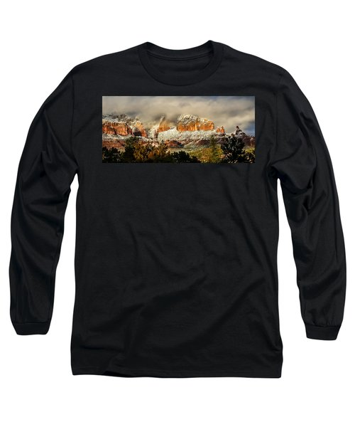 Snowy Day In Sedona Long Sleeve T-Shirt