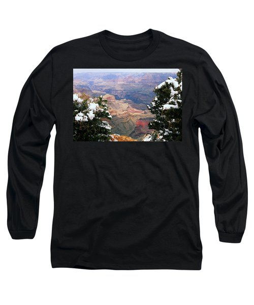 Snowy Dropoff - Grand Canyon Long Sleeve T-Shirt