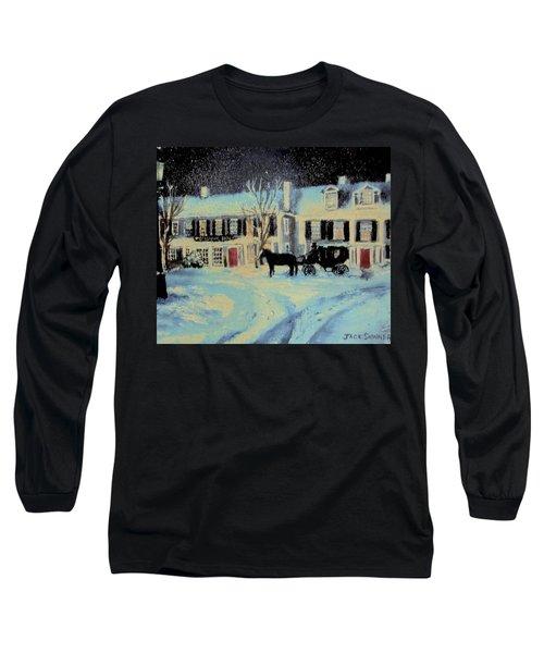 Snowy Night At The Inn Long Sleeve T-Shirt