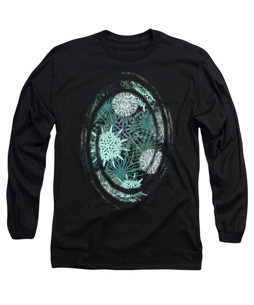 Snowy Night Long Sleeve T-Shirt by AugenWerk Susann Serfezi