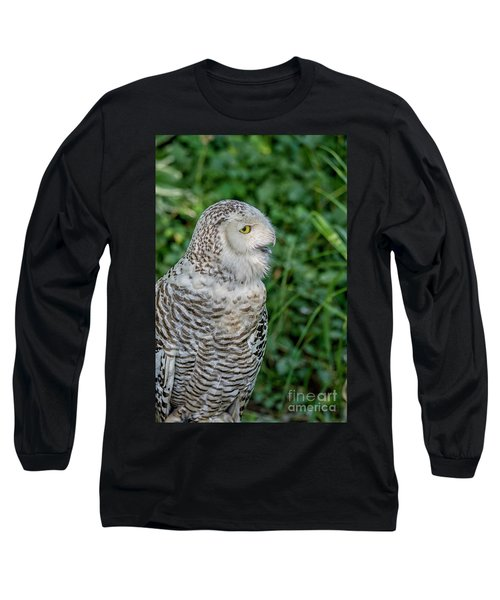 Long Sleeve T-Shirt featuring the photograph Snowy Owl by Patricia Hofmeester