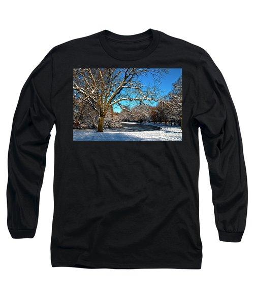 Snowy Pond Long Sleeve T-Shirt