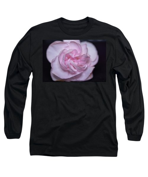 Soft Pink Rose Long Sleeve T-Shirt