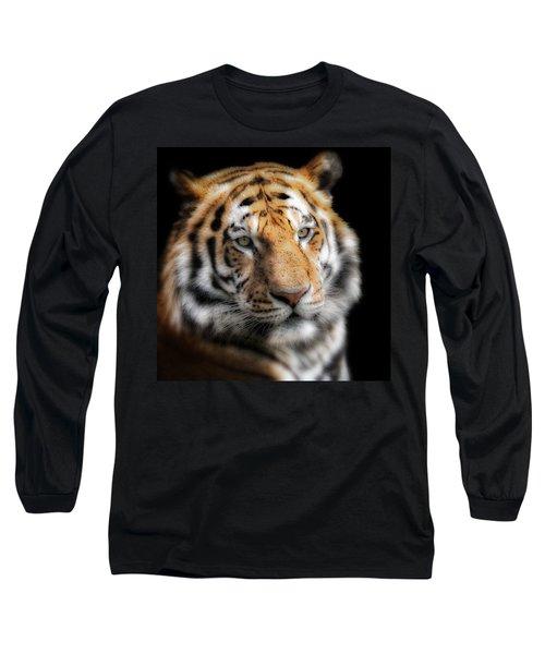 Soft Tiger Portrait Long Sleeve T-Shirt