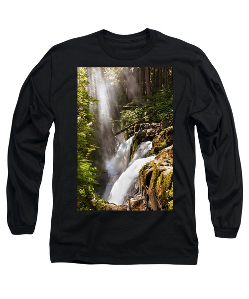 Long Sleeve T-Shirt featuring the photograph Sol Duc Falls by Adam Romanowicz
