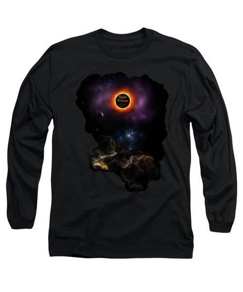 Solar Eclipse 2017 Nebula Bloom Long Sleeve T-Shirt