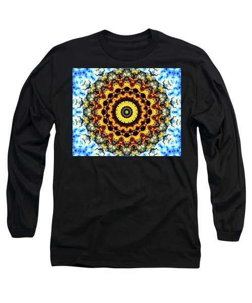 Long Sleeve T-Shirt featuring the digital art Solar Flare 2 by Wendy J St Christopher