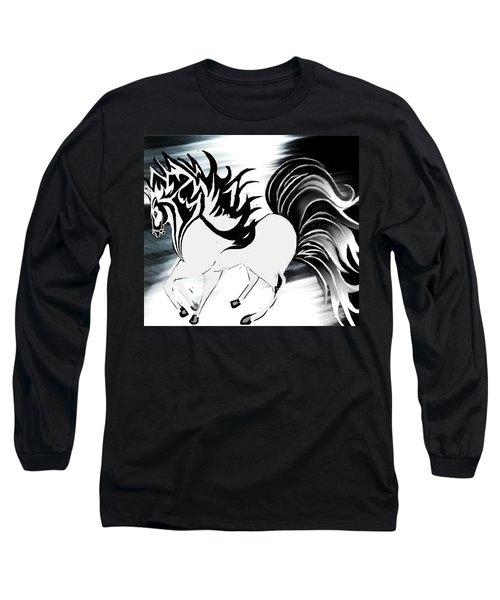 Soldier Horse Long Sleeve T-Shirt by Belinda Threeths