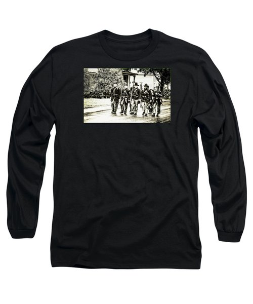 Soldiers Marching In Parade Long Sleeve T-Shirt by Rena Trepanier