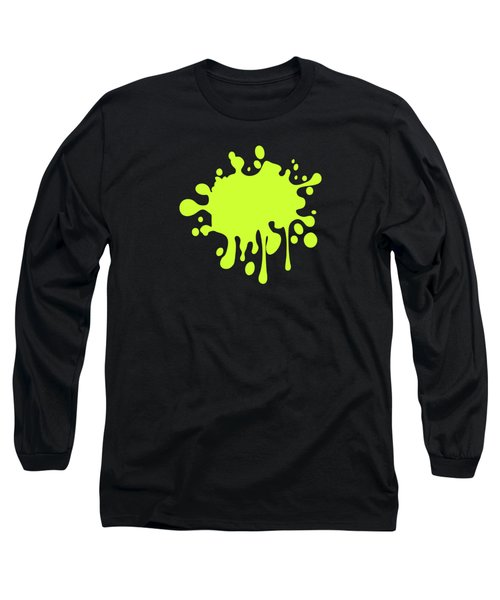 Solid Electric Lime Color Long Sleeve T-Shirt by Garaga Designs