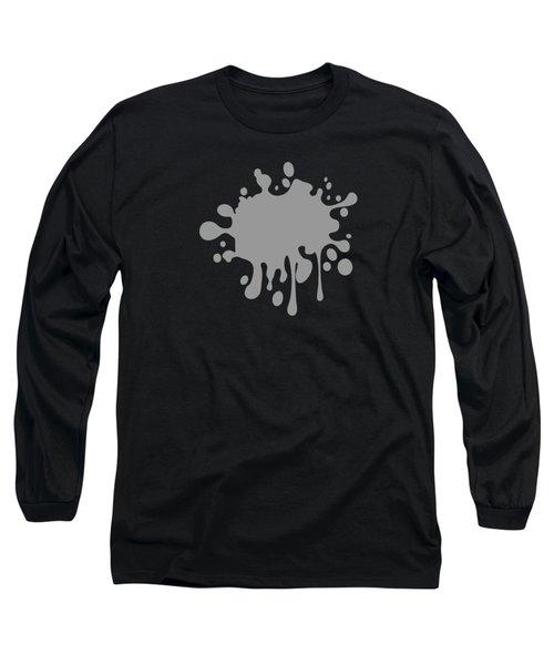 Solid Medium Grey Tone Long Sleeve T-Shirt