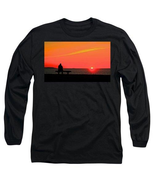 Solitude At Sunrise Long Sleeve T-Shirt