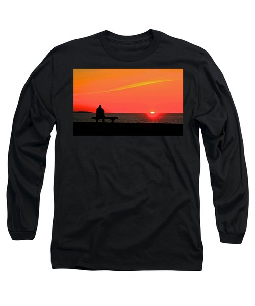 Solitude At Sunrise Long Sleeve T-Shirt