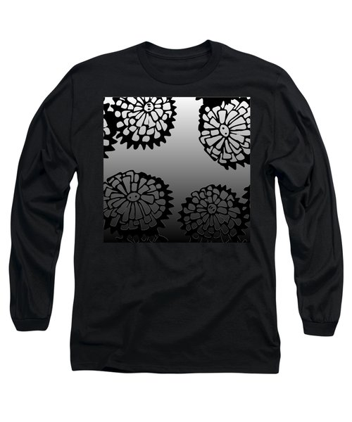 Sonchus In Black Long Sleeve T-Shirt