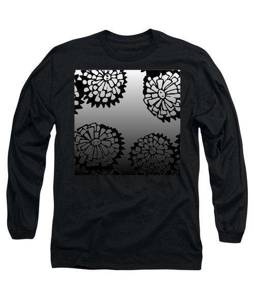 Sonchus In Black Long Sleeve T-Shirt