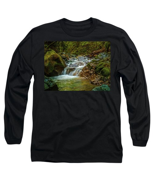 Long Sleeve T-Shirt featuring the photograph Sonoma Valley Creek by Bill Gallagher