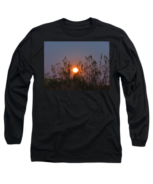 Sonoran Desert Harvest Moon Long Sleeve T-Shirt