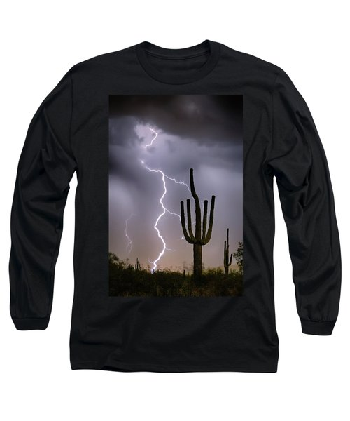 Long Sleeve T-Shirt featuring the photograph Sonoran Desert Monsoon Storming by James BO Insogna