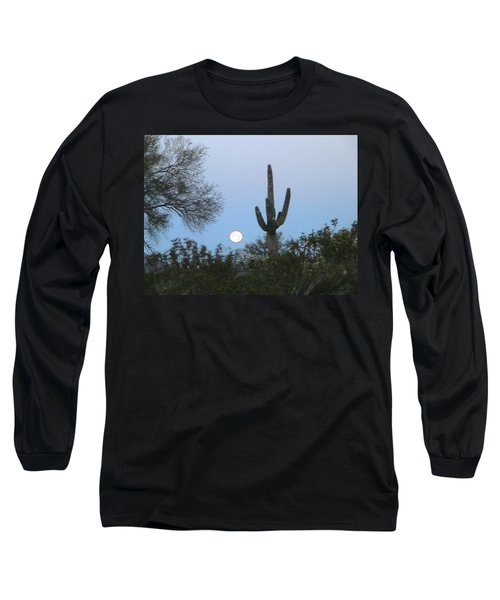Sonoran Desert Moonset Long Sleeve T-Shirt
