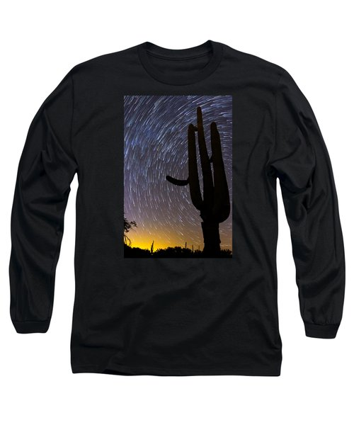Sonoran Startrails - Reaching For The Stars Long Sleeve T-Shirt