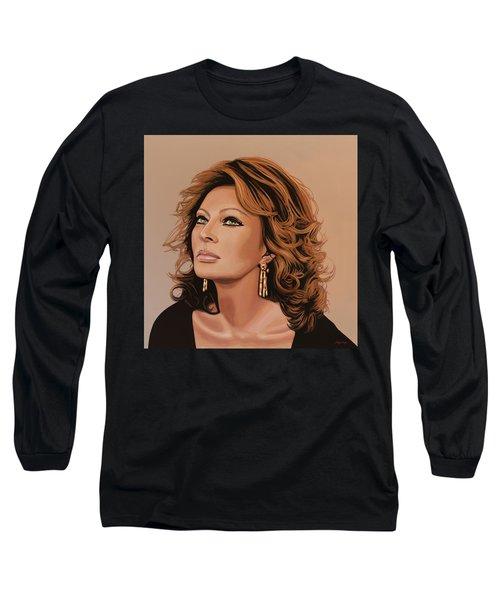 Sophia Loren 3 Long Sleeve T-Shirt by Paul Meijering