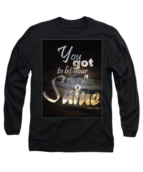 Soul Shine Long Sleeve T-Shirt by Thomasina Durkay