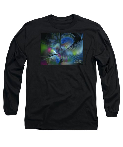Long Sleeve T-Shirt featuring the digital art Sound And Smoke by Karin Kuhlmann