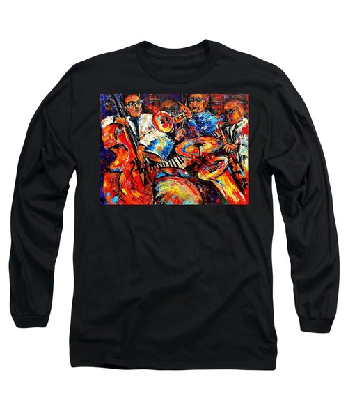 Sounds Of Jazz Long Sleeve T-Shirt by Helen Kagan