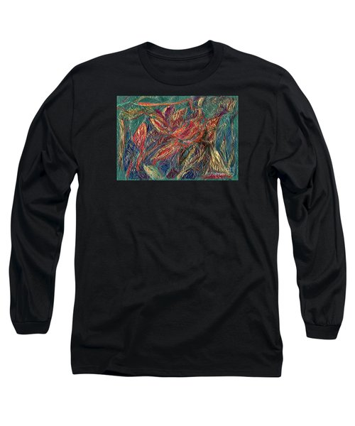 Sounds Of The Forest Long Sleeve T-Shirt by Veronica Rickard