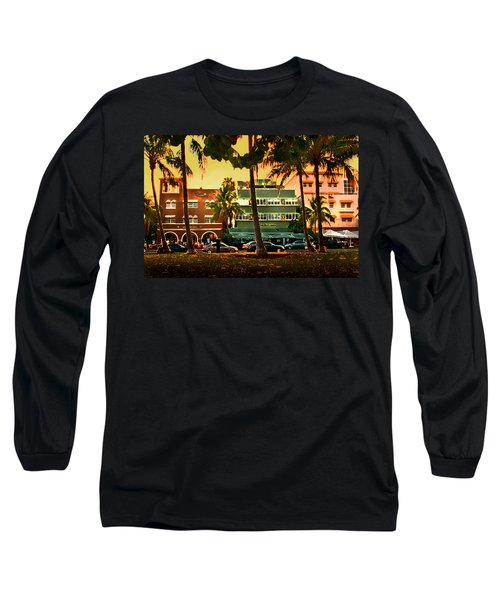 South Beach Ocean Drive Long Sleeve T-Shirt