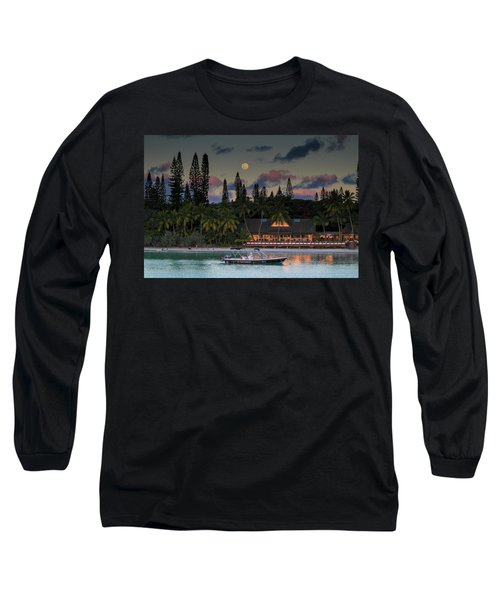 South Pacific Moonrise Long Sleeve T-Shirt