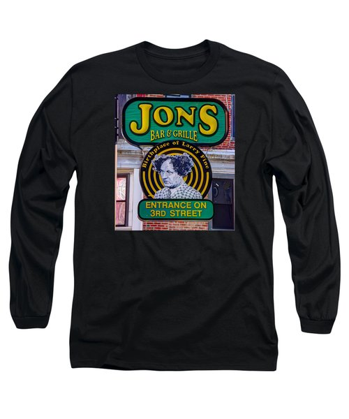 South Philly Skyline - Birthplace Of Larry Fine Near Jon's Bar And Grille-a - Third And South Street Long Sleeve T-Shirt
