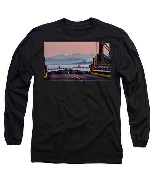 Long Sleeve T-Shirt featuring the photograph Southworth Ferry Terminal - End Of State Highway 160 by E Faithe Lester