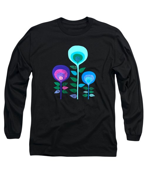 Space Flowers Long Sleeve T-Shirt